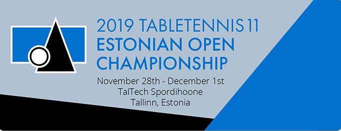 Tabletennis11 Estonian Open – Tule saa sellest osa!