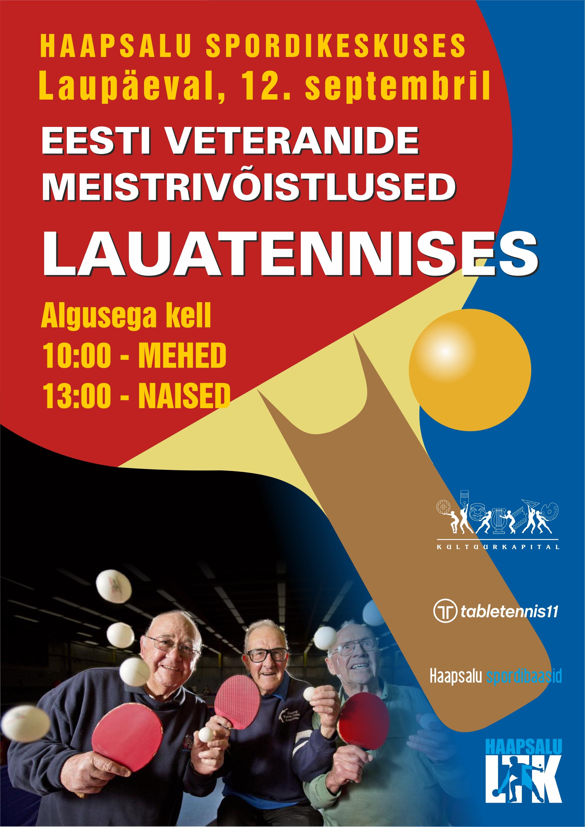 Lisainfo! / Eesti veteranide MV 2020 / Võistlejate nimekiri!