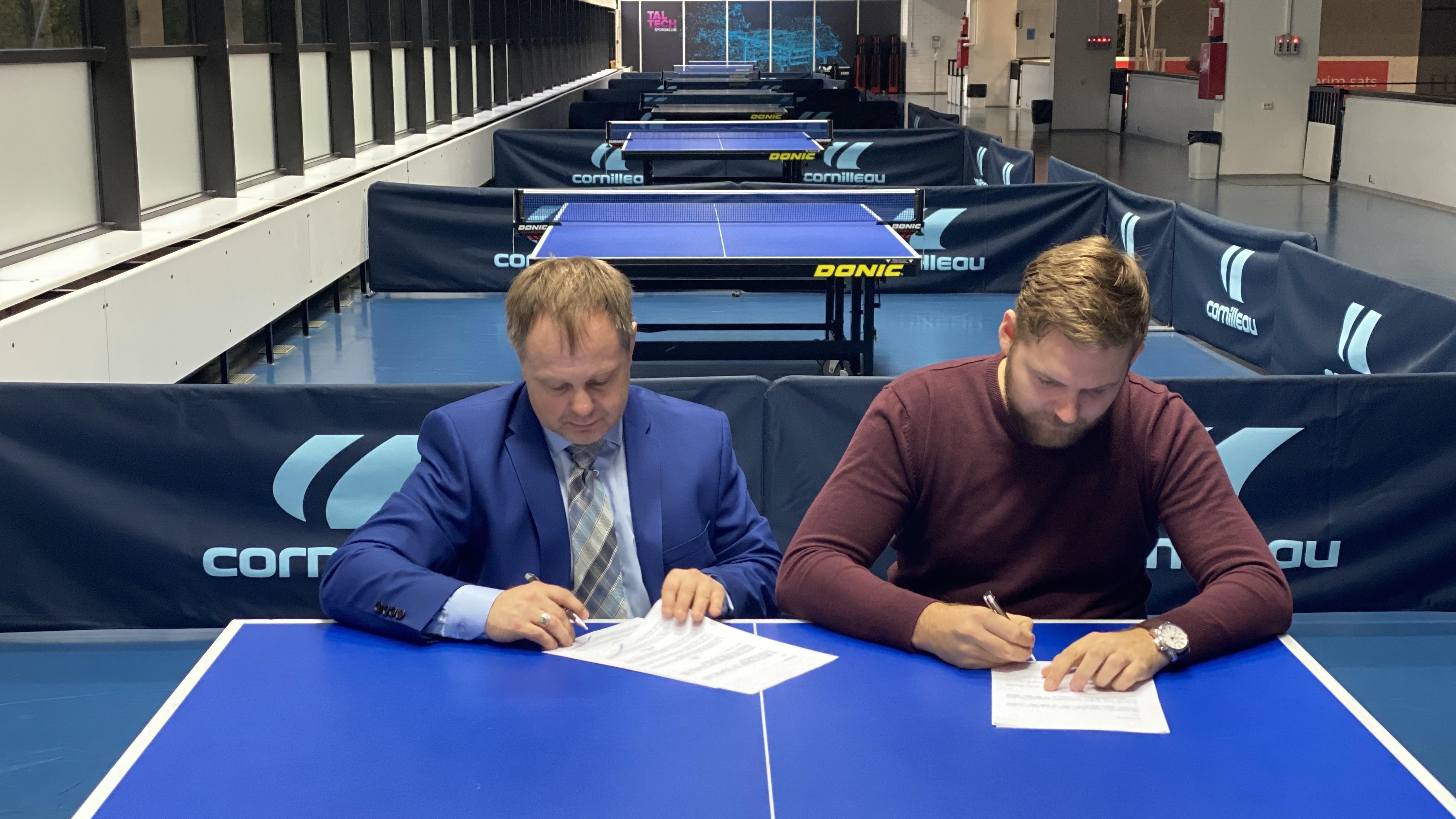 Eesti Lauatenniseliit ja Novellae õigusbüroo sõlmisid koostööleppe